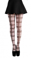 Square check tartan tights