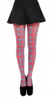 Red plaid tights