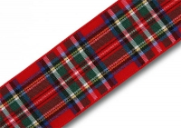 Royal Stewart tartan ribbon 25mm