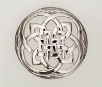 Celtic plaid brooch