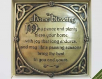 Bronze home blessing