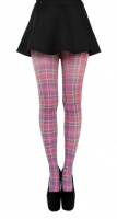 Jackson plaid print - purple tights