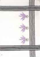 Lavender embroidered tea towel
