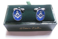 Masonic cuff links (Chrome Blue)
