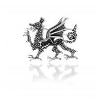 Silver Welsh Dragon brooch
