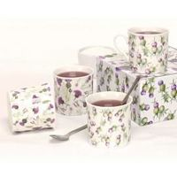 Highland thistle mugs (4)