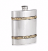 6oz flask with Celtic bands