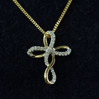 Gold & diamond cross