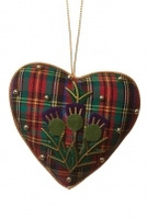 Tartan heart decoration