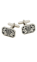Rectangle Cufflinks in Polished Pewter.