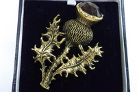 Antique Thistle Brooch