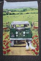 Border Collie In Jeep Tea Towel