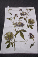 Butterfly and Flower Tea Towel