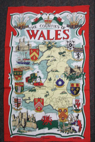 Counties of Wales Tea Towel