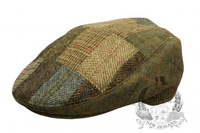 English Wool Tweed Patchwork Cheesecutter