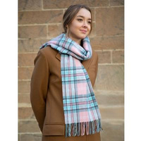 Diana Memorial Tartan Lambswool Scarf - Rose
