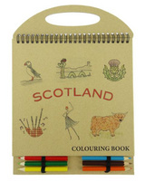 Scottish Colouring Book with Pencils