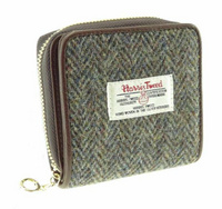 Linda - Harris Tweed & Leather Small Purse