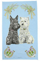 Scottie/Westie Tea Towel