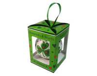 Shamrocks & Hearts Bauble