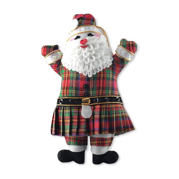 Scottish Santa Christmas Decoration