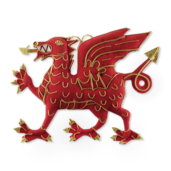 Welsh Dragon Christmas Decoration Christmas Decorations