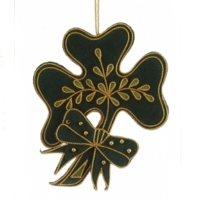 Irish shamrock christmas decoration