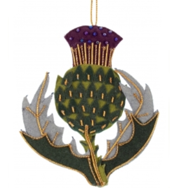 Scottish thistle Christmas decoration | Christmas decorations ...