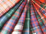 Fine wool tartan scarf made in Scotland