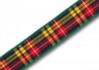 16mm Buchanan tartan ribbon