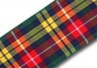 38mm Buchanan tartan ribbon