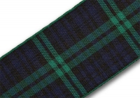 38mm Black Watch tartan ribbon