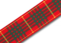 25mm Cameron clan tartan ribbon
