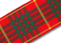 38mm Cameron clan tartan ribbon