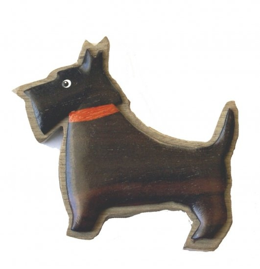 Scottie dog magnet